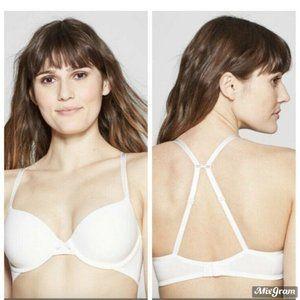 T-Shirt Bra Auden White Convertible Straps 32C NEW